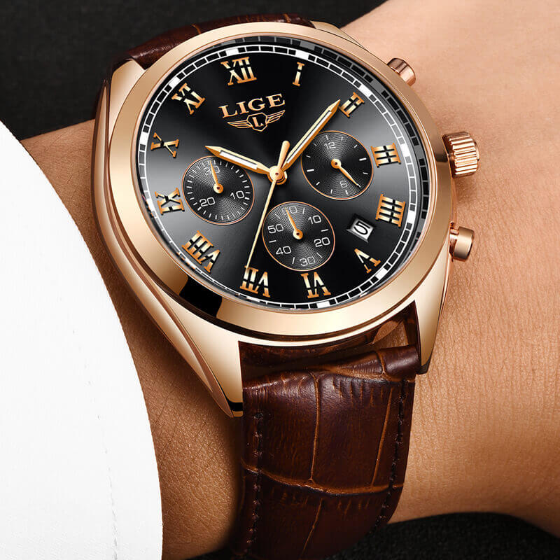 2020 LIGE Mens Watches Top Brand Luxury Waterproof 24 Hour ...